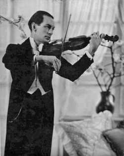 Marcel Gardner playing violin
